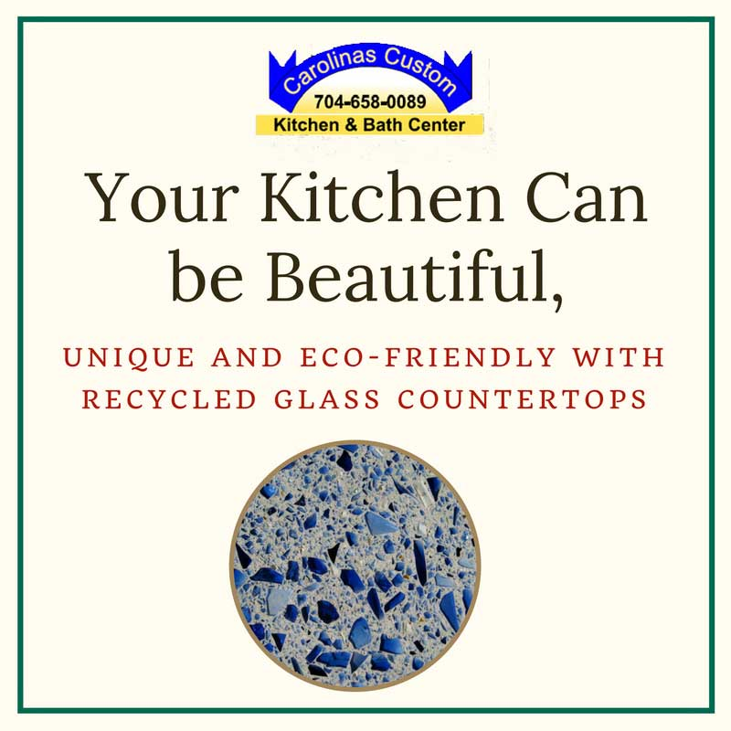 Your Kitchen Can be Beautiful, Unique and Eco-friendly with Recycled Glass Countertops