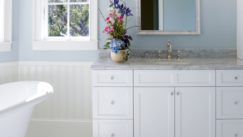dress up your bathroom cabinetry to get the look you want